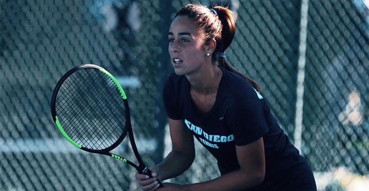 Gemma Garcia is one of several top USD women's tennis players to contribute to the team's nine-match winning streak.
