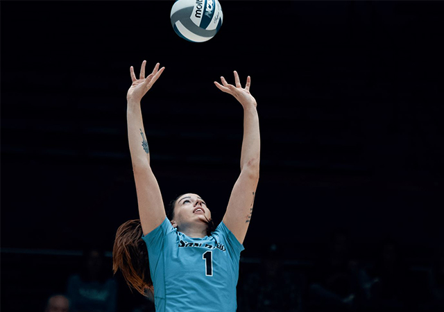 Setter Anna Newsome's play in USD volleyball's win over BYU earned her WCC Player of the Week honors.