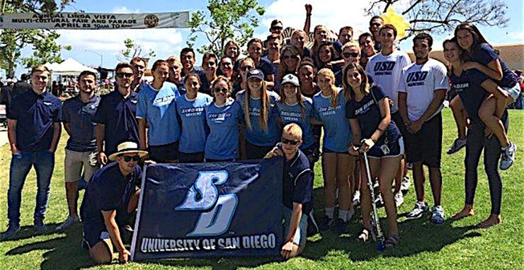 The USD campus community, especially student-athletes, flock to the annual Linda Vista Multicultural Fair and Parade. This year's event is on Saturday, April 27.