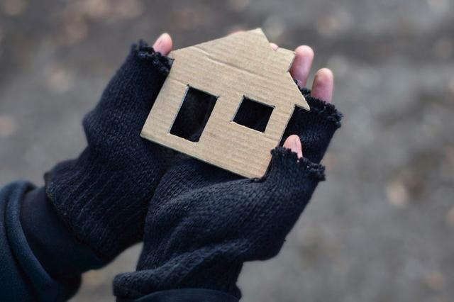 hands holding cardboard shaped as a house