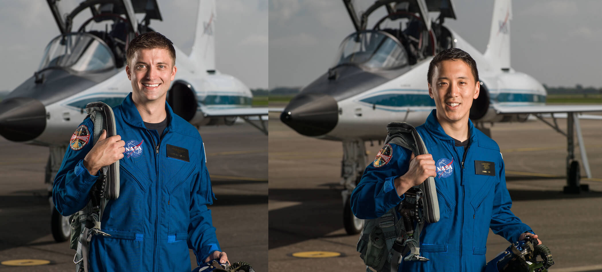 Matthew Dominick and Jonny Kim, 2020 NASA graduates