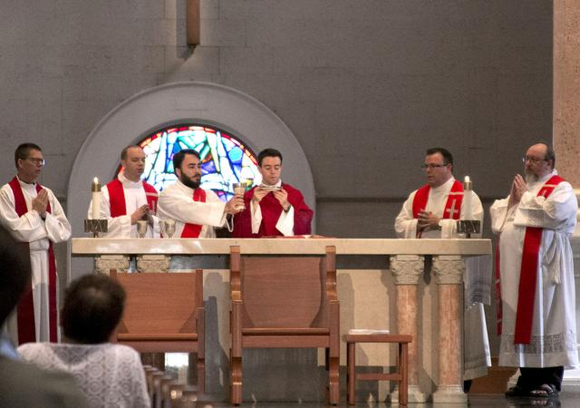 Ordained Priests, USD Alumni at Immaculata Mass