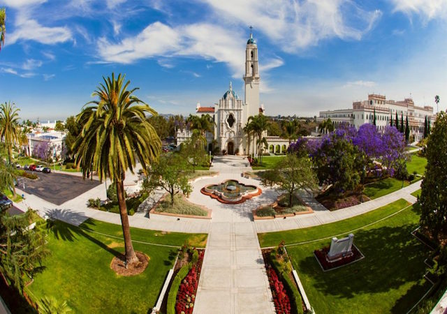 Panoramic image of the Immaculata and Colachis Plaza