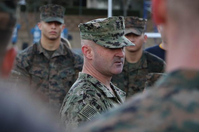 CMC Dunlap addresses the Unit after PT.