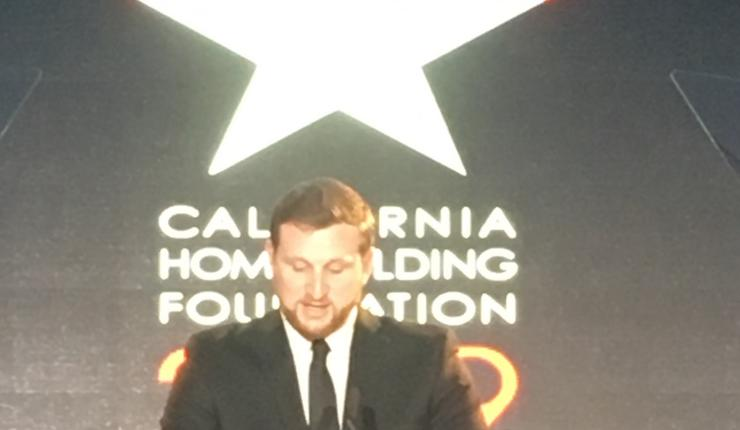 Shane Isdaner '20 MSRE at the California Homebuilding Foundation Scholarship Recipient