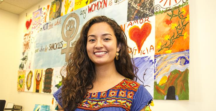 Graduating senior Samantha O'Brien has built a foundation for womxn of color on the USD campus slowly, but surely. On Saturday, Dec. 1, she'll host the inaugural Womxn of Color Summit.