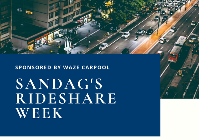 Info on SANDAG's Rideshare week