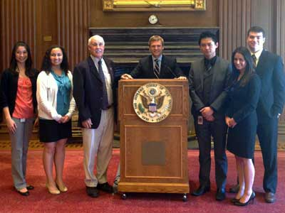 Professor John Minan with USD Law students