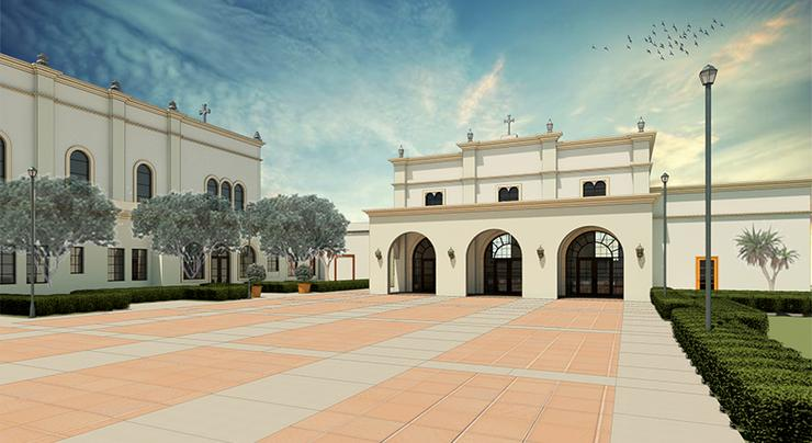 The Mission and Ministry Center, located next to Founders Hall and Founders Chapel is on schedule to finish construction in June 2019.