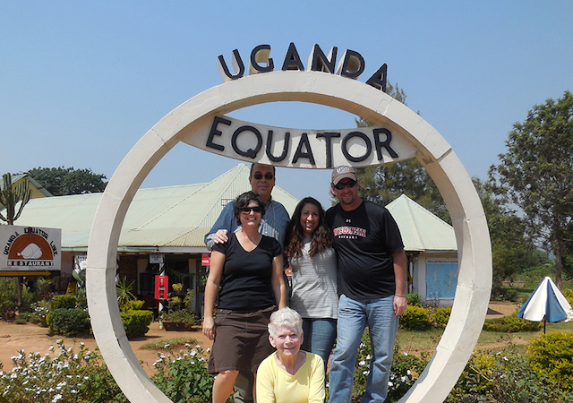 Frank Jacobitz and colleagues in Uganda