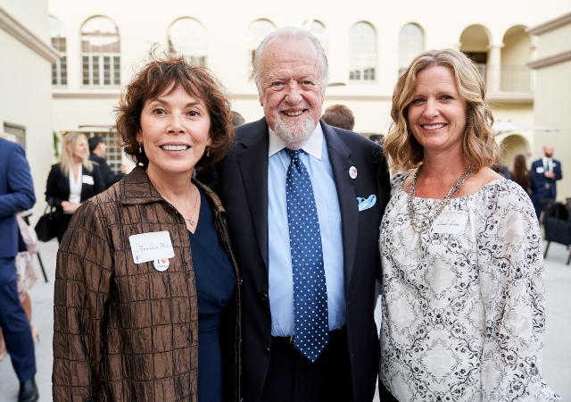 Linda Lane and guests at the Legal Aid Society event