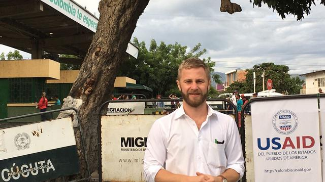 John Patterson in Colombia, where he works for USAID's Office of US Foreign Disaster Assistance (OFDA) as the Deputy Team Leader (Colombia) for the Venezuela Regional Crisis Response.