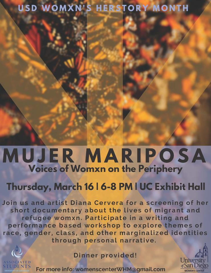 Mujer Mariposa Flyer