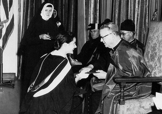 Therese Truitt Whitcomb '53 - Bishop Buddy at 1954 graduation