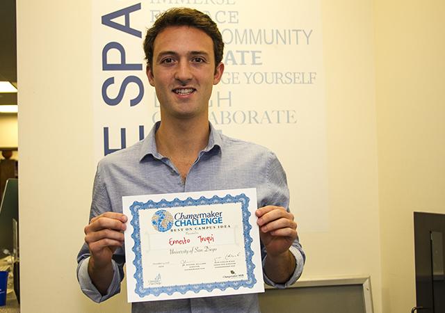 Ernesto Truqui, Changemaker Challenge winner