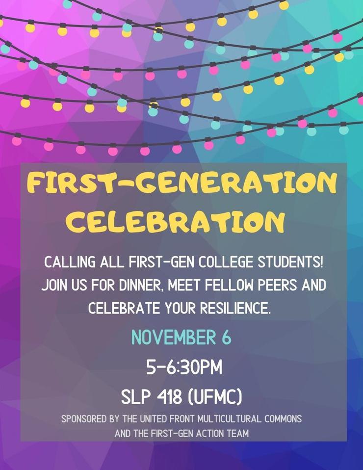 First-Gen Celebration Flyer