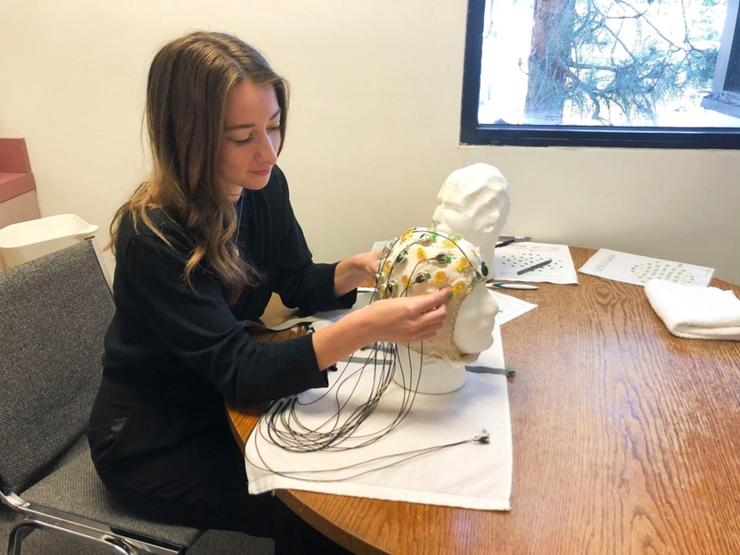 Amanda Holbrook  assists with research at the SDSU Center for Understanding and Treating Anxiety (CUTA)