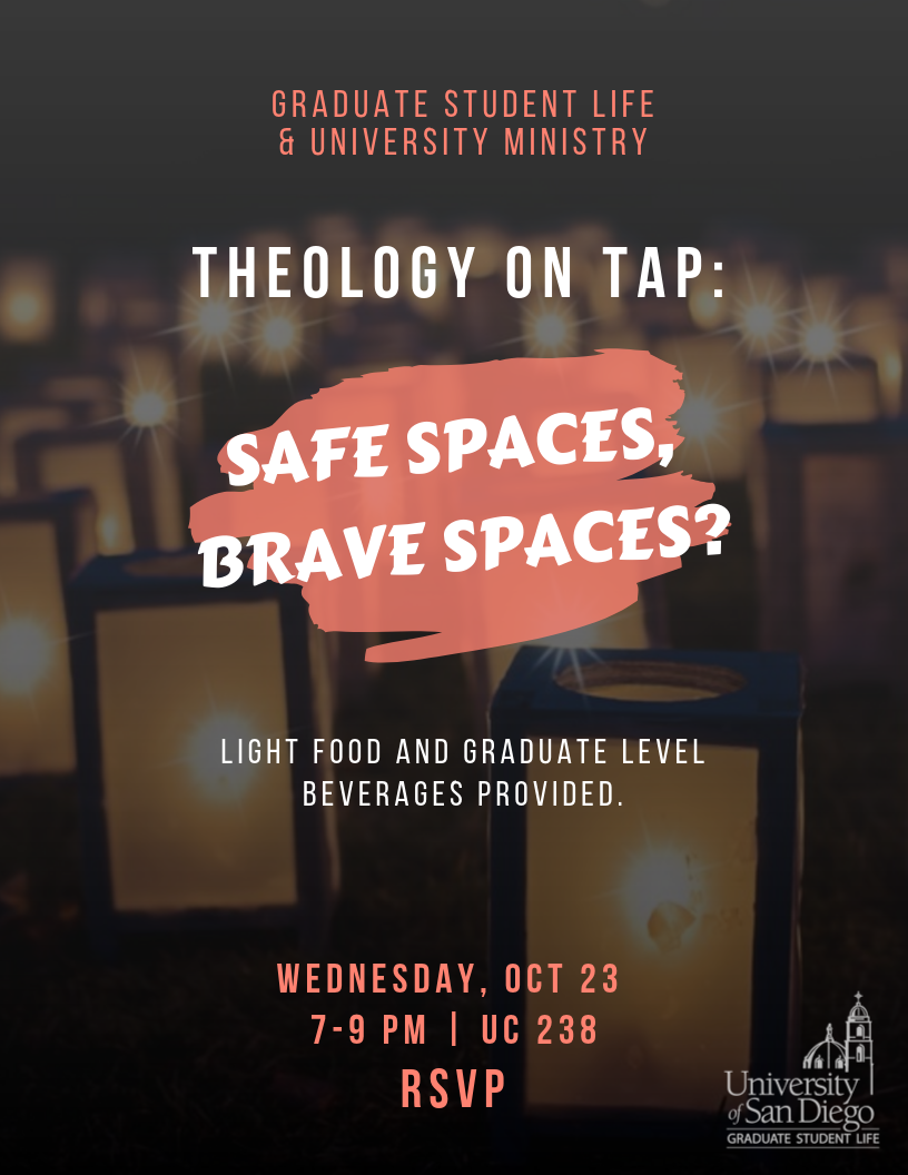 GSL and UM Theology on Tap, Oct 23 from 7-9pm in UC 238