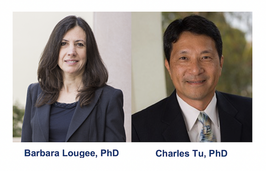 Image is of Dr. Barbara Lougee and of Dr. Charles Tu