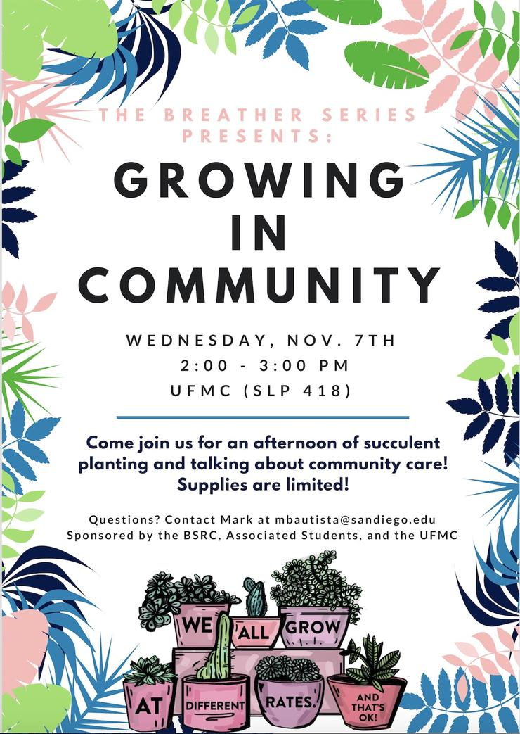 The Breather Series Presents: Growing in Community
