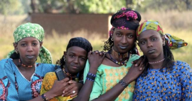Women in colorful attire