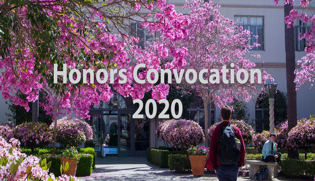 The 2020 Undergraduate Honors Convocation was presented as an online program with the names of top student award winners in each school, department and for student activity awards.