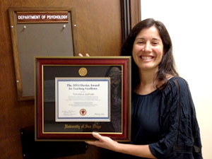 Veronica Galvan, PhD, Davies Award Winner
