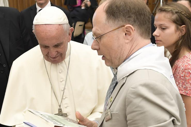 Pope Francis with Ken Serbin, PhD
