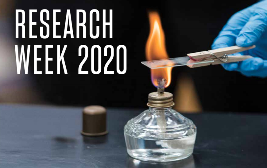 Virtual Research Week 2020 will take place April 20-24 with events such as the 30th Creative Collaborations and SOLES' Diversity, Inclusion and Social Justice Showcase. View all events online.