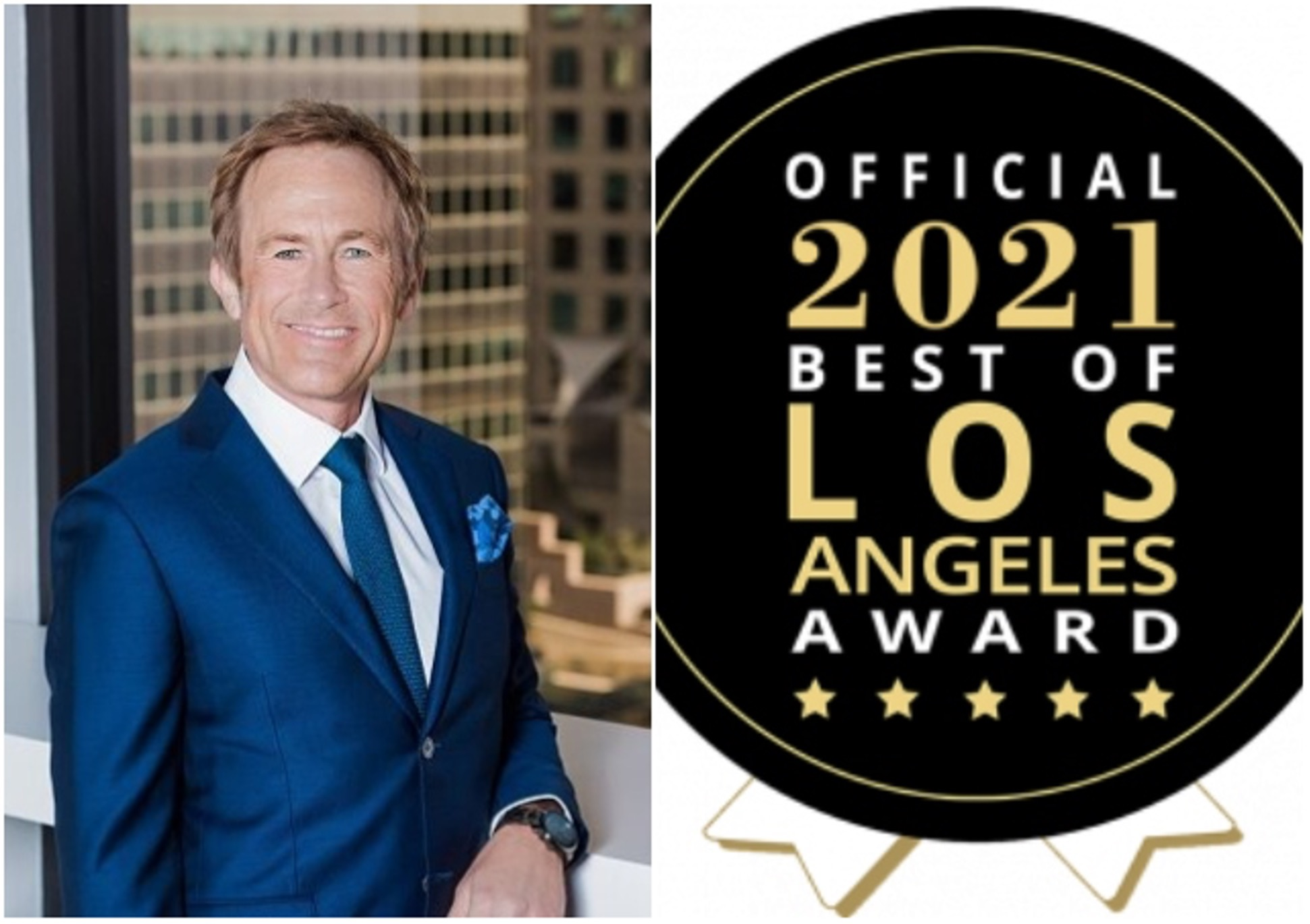 Robert Hudock (right), Best of LA Awards logo (left)