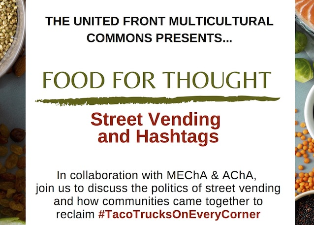 MECHA flyer for the Food for Thought event
