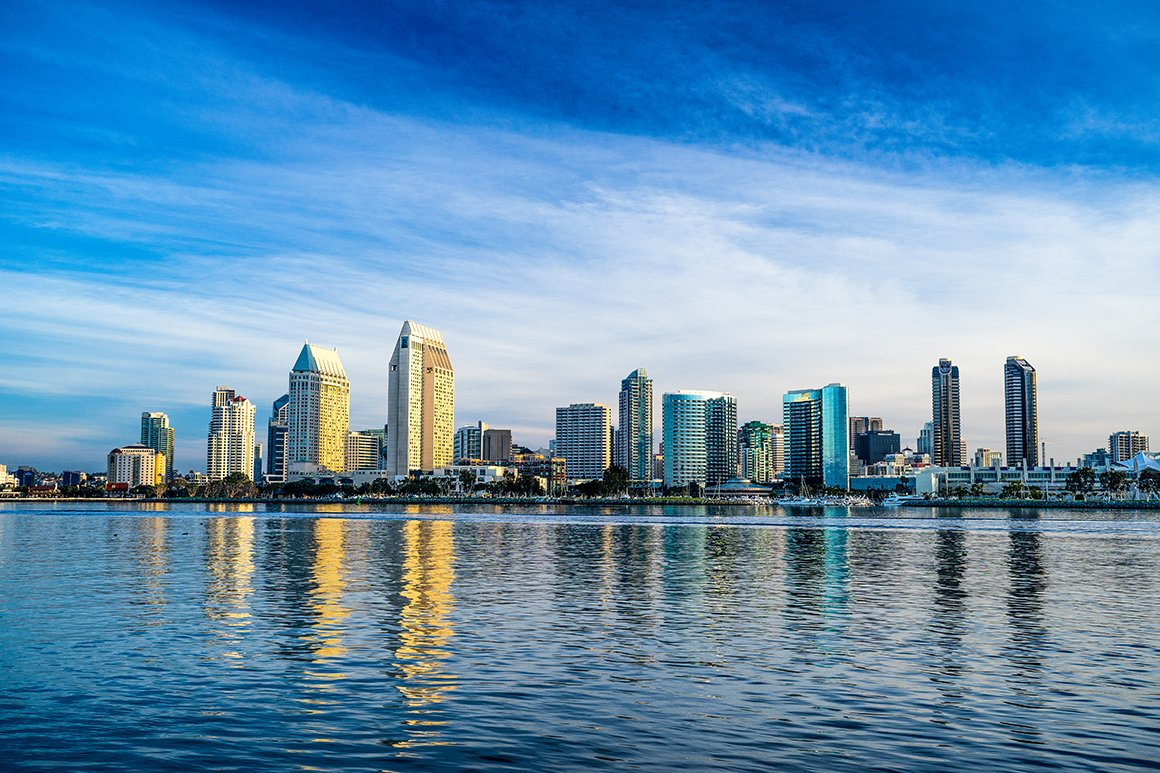 View of San Diego downtown skyline