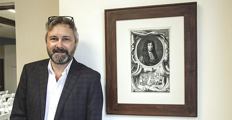Dr. Brian Clack, a philosophy professor at USD and the inaugural director of the Humanities Center, is the first recipient of the new A. Vassiliadis Directorship.