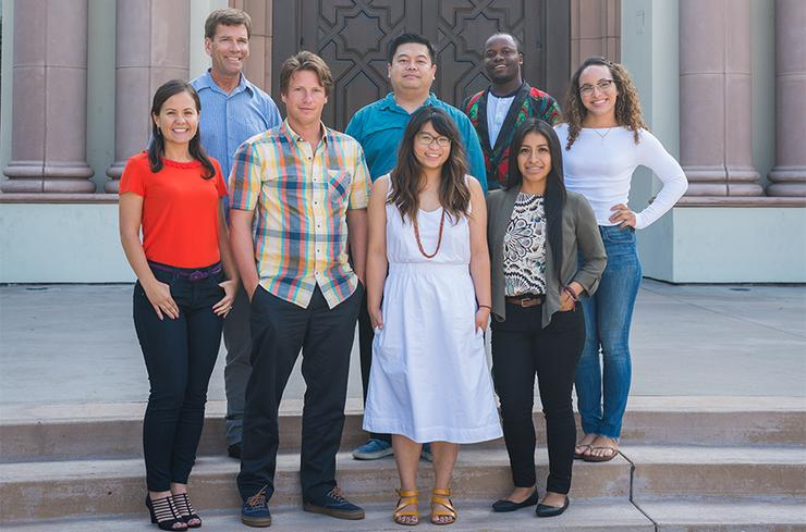 Patrick Martin, front row, second from left, was among a solid first Kroc School cohort for the Master of Science in Conflict Management and Resolution degree program in 2018-19.