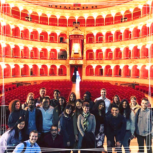 USD Professor Priya Kannan-Narasimhan teaches an MBA class on creativity in Rome