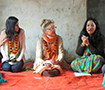 Zahra Ismail, Dee Aker and Shobha Shrestha in Nepal