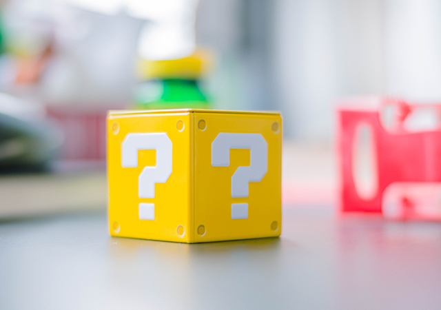 a cube with question mark