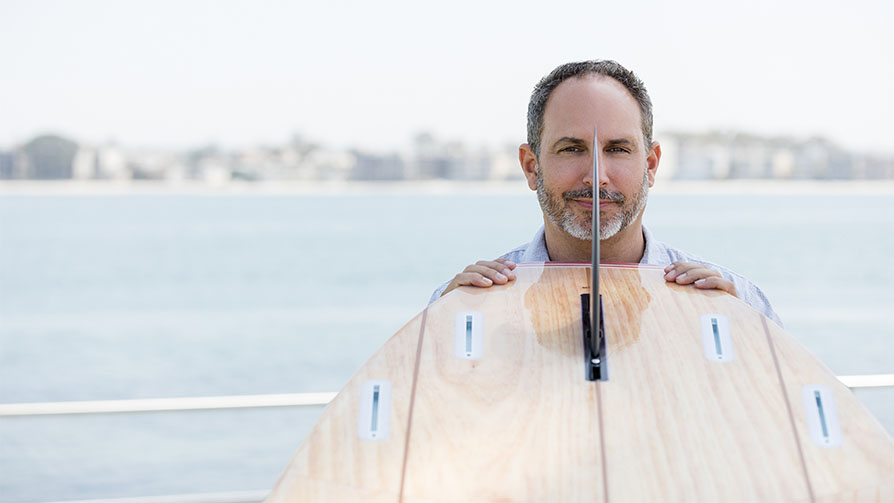 MBA alumnusStephan Aarstol, founder and CEO ofTower Stand Up Paddle Boards