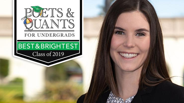 Evie Blackburn '19, USD student featured among the Poets & Quants 'Best and Brightest' List