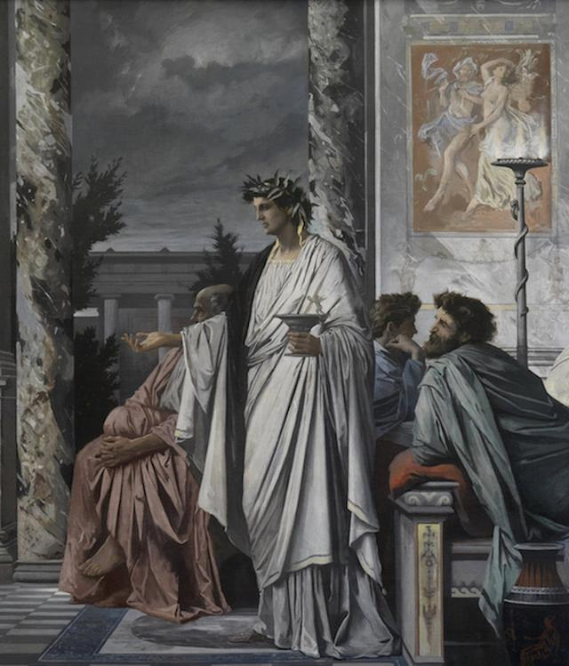 Painting of Plato's Symposium