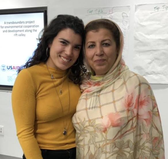 Andrea Garcia and Mossarat Qadeem