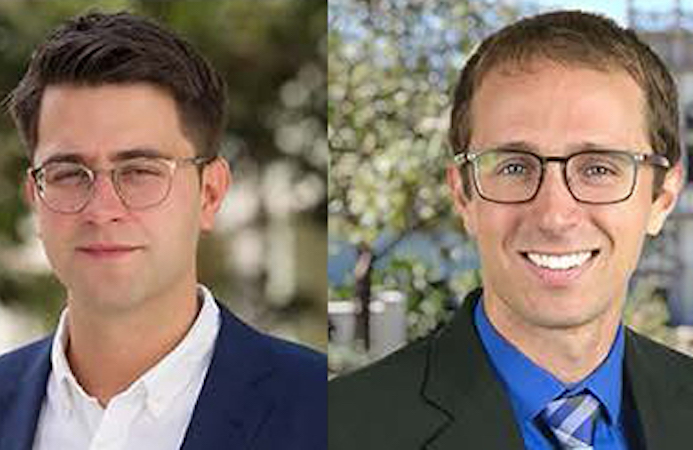 Josh Della Vedova, Gordon Hoople are two of four USD faculty to receive CDev recognition.