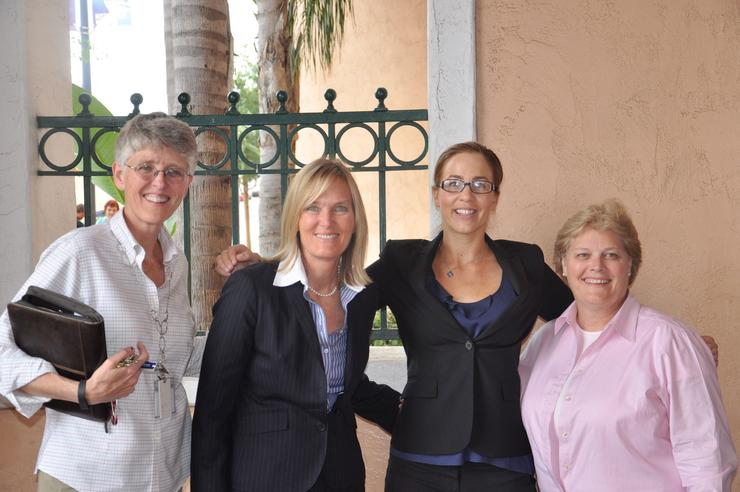 Ruth Bruland, Susan Hack ,'89 (JD), Daneil Broderick, Patricia Cruise