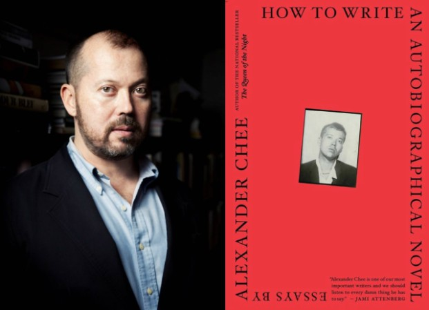 Alexander Chee portrait and bookcover of How to Write an Autobiographical Novel