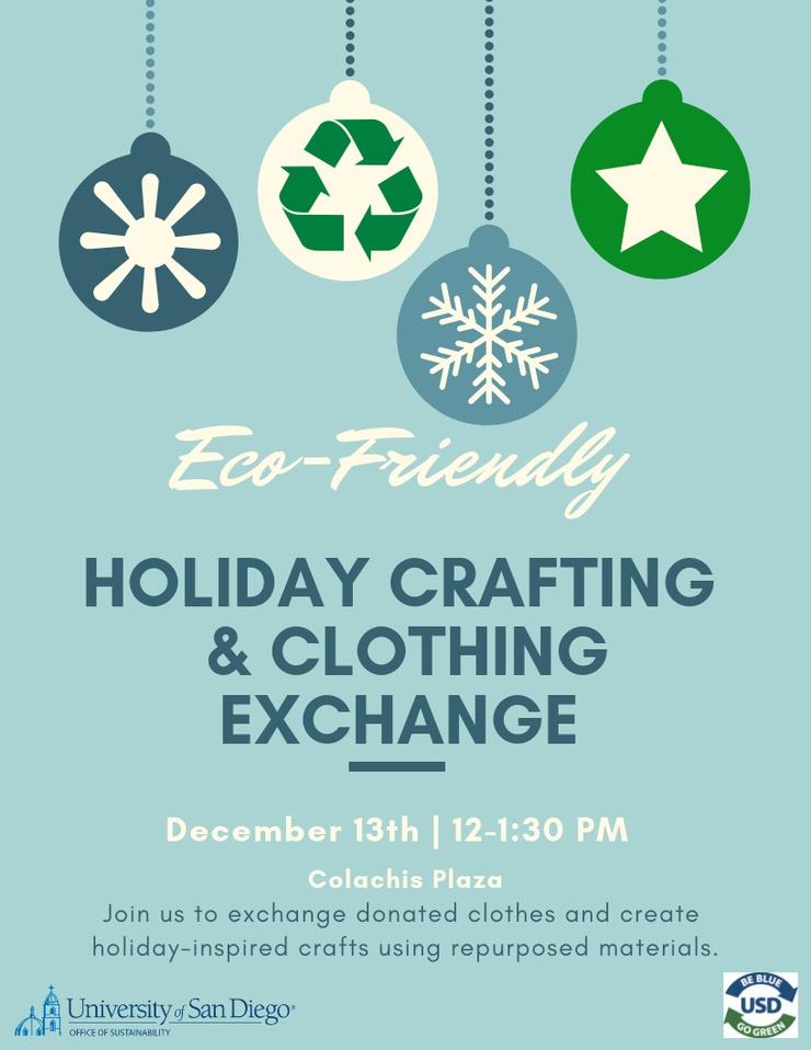 Eco-Friendly Holiday Crafting and Clothing Exchange