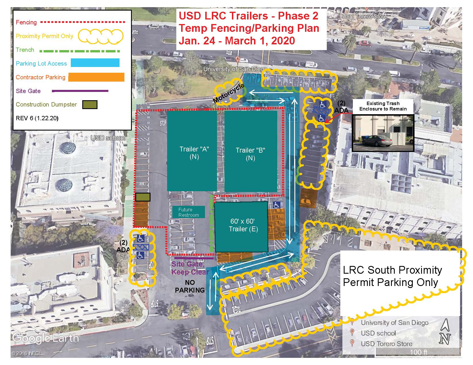 Law Parking Lot Phase 2 Jan 24-March 1, 2020