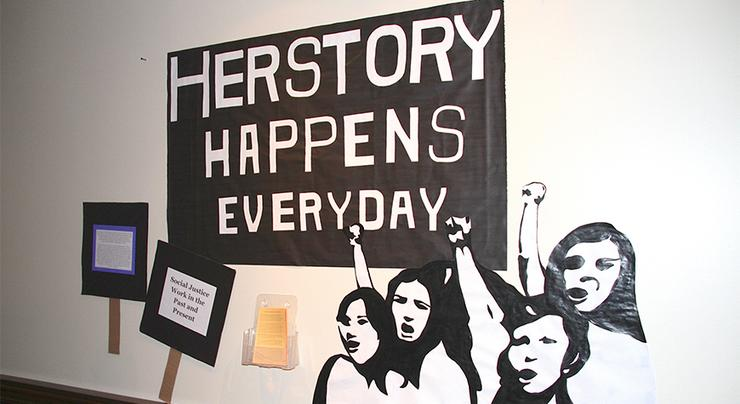March is Women's History Month. USD's Women's Center and other USD organizations are hosting events to recognize, engage and encourage discussion of women's issues. This photo is from a 2015 exhibit.