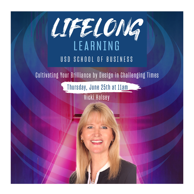 University of San Diego Lecturer Vicki Halsey presents in Lifelong Learning Webinar Series