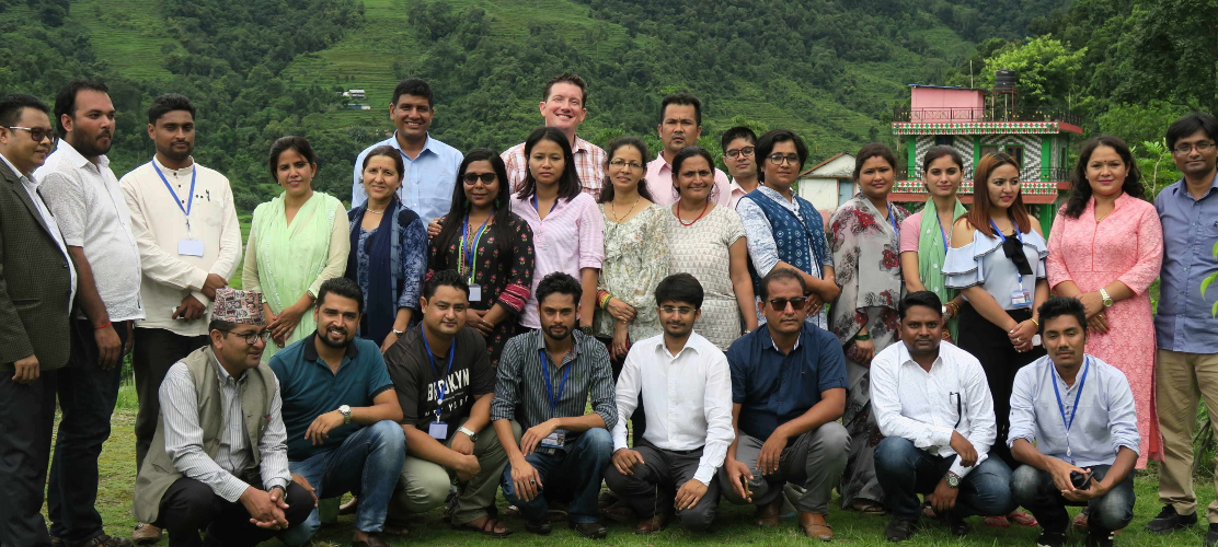 NELP participants engaging in a mediation simulation in Pokhara, Nepal