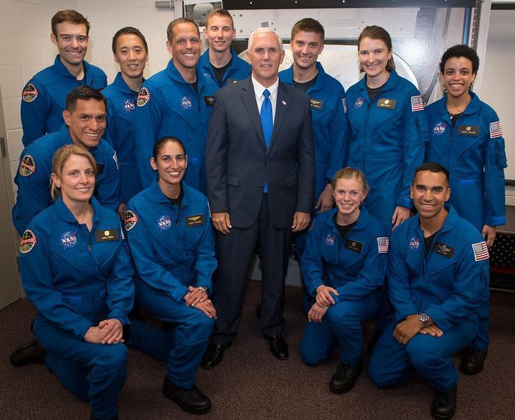 NASA astronaut training candidates